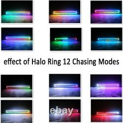 120W 22 inch Led offroad Light Bar Combo RGB Halo Chasing For ATV SUV Boat UTE