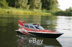 120 Police Patrol Cruiser RC Boat Electric Remote Control 4CH RTR Red