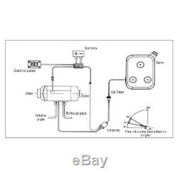 12V 5KW Diesel Air Heater Thermostat Remote Control LCD for Truck Boat Trailer