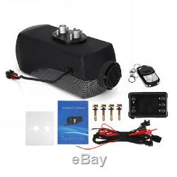 12V 8000W Diesel Air Heater Black LCD Thermostat Remote Control FOR Car Boat