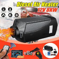 12V 8KW Diesel Air Heater Black LCD Thermostat Remote Control FOR Car Boat RV
