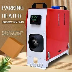 12V 8KW Diesel Air Heater Car Parking Remote Control LCD Display For Truck Boat