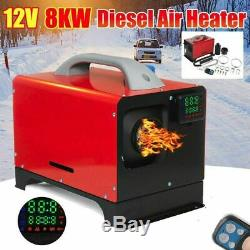 12V 8KW Diesel Air Heater Remote Control For Car Truck Boat Trailer RV Motorhome
