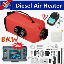 12V 8KW Diesel Air Heater Thermostat Remote Control LCD for Truck Boat Trailer