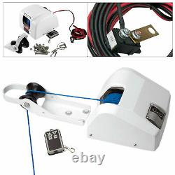 12V Boat Electric Anchor Winch 45LBS with Remote Control & Braided Anchor Rope