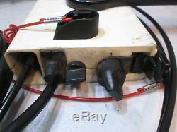 1980's OMC /Evinrude/Johnson Boat Remote Control Box 8 Pin Red With 11' Cables