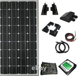 200W solar panel kit 20A charger dual controller with remote LCD motorhome boat