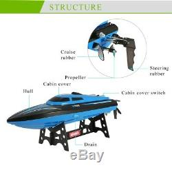 2.4GHz 4CH High Speed Model RC Boat Water Cooling Remote Control Racing Boat NEW