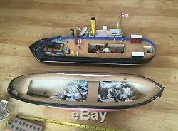 2 Vintage Remote Controlled Tug Boats