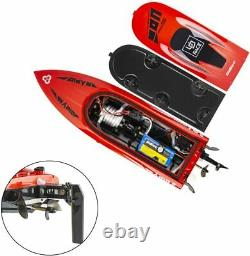 30+KM/H High Speed RC Boats for Lakes, Rivers and Pools, 2.4GHz Remote Control