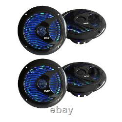 4 X 6.5'' Inch 150 Watts Marine Boat Stereo Speakers WithMulti-Color LED Ligth