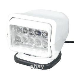 50w Led Search Work Light Remote Rotate Control Magnetic Boat Replacement HID