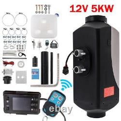 5KW 12V Diesel Air Heater LCD Switch& Remote Control 10L Tank For Truck Boat Car