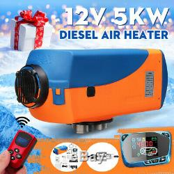5KW 12V Diesel Air Heater LCD Thermostat Remote Control For Trucks Boat Trailer