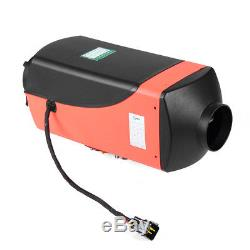 5KW 12V Diesel Air Heater Remote Control Silencer LCD For Truck Boat Car Trailer