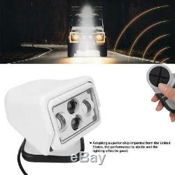 60W LED Car Remote Control Search Light Outdoor Spotlight for Car Boat White