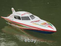 7000 RC Remote Radio Control Syma WHITE Stealth Racing Speed Boat UK SELLER