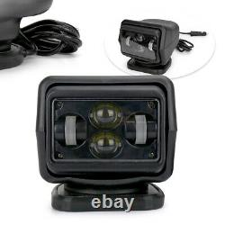 7 60W Remote Control Driving Light LED Spot 360° Rotating Search Light For Boat
