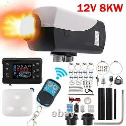 8KW 12V Diesel Air Heater LCD Monitor & Remote Control For Truck Boat Car Bus US