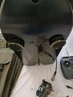 Angling Technics bait boat with torch unit and wall plug and bag collection