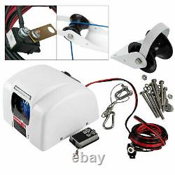 Boat Electric Anchor Winch With Remote Wireless Control Marine Saltwater 45 LBS