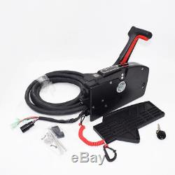 Boat Outboard 8Pin Right Side Mount Remote Control Box With cable For Mercury