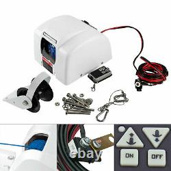 Boat White Electric Anchor Winch with Remote Control Marine Saltwater 25 LBS NEW