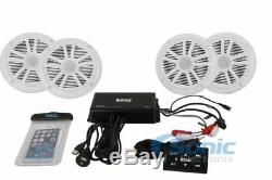 Boss ASK904. B. 64 4-Ch 500W RMS Marine/Boat Amplifier WithBluetooth & 4 Speakers
