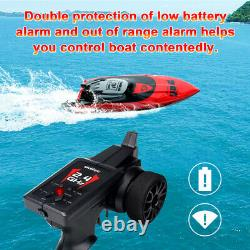 Brushless RC Boat for Adult Kid 40 km/h Fast Remote Control Boat with 2 Batteries