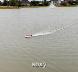 Brushless RC Racing Boat 45+ km/h High Speed Remote Control Boat for Adult Kids