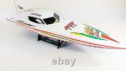 CHEAP Remote Radio Control RC White Stealth RS 7000 R/C Racing Speed Boat Yacht