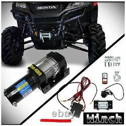 Electric Recovery Winch Kit withSteel Cable 4500lb 12V For ATV UTV Boat Car