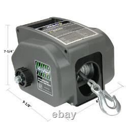 Electric Trailer Boat Winch Reversible Winch 6000lbs 12V DC/27lbs Remote Control