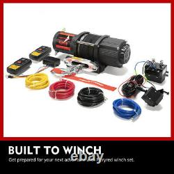 Electric Winch 4500LBS Synthetic Rope Remote Control for Offroad Boat ATV UTV
