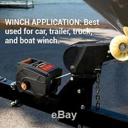 Electric Winch Portable Towing Trailer Truck Boat Car Remote Control Heavy Duty