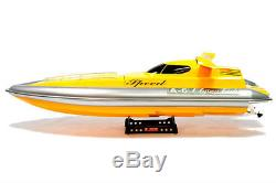 Flying Fish Remote Control Speed Boat RC Remote Control Yellow 2 Ch Pro 38 New