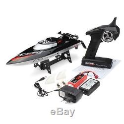 Hi Speed FT012 Upgraded FT009 2.4G Brushless RC Remote Control Racing Boat (US)