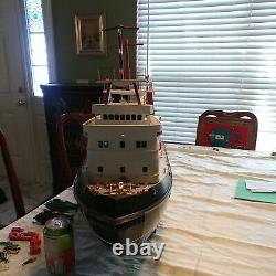 Huge 42 Remote Control Wood Supply Heavy lifting Ship Boat SEE VIDEO