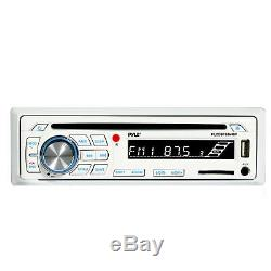 In Dash Marine Boat CD SD USB AM/FM Stereo/ Wireless Bluetooth 2 Speakers +Cover