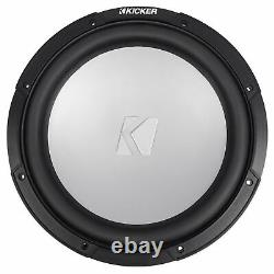 KICKER 45KM122 12 350w Marine Boat Subwoofer withLED Grill SVC 2-ohm Sub KM12