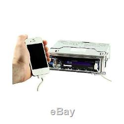 KMR355U Marine Boat USB iPod iPhone Pandora Stereo With Wired Remote + 4 Speakers