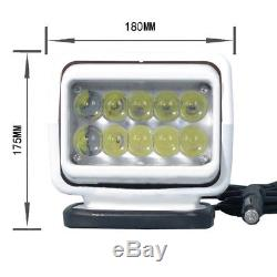 LED Marine Remote Control Search Light Kit Spotlight Offroad Car Boat White 50W