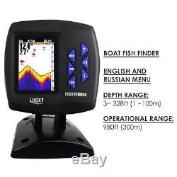 LUCKY Color Display Boat Fish Finder Wireless Remote Control 300m/ 980ft Fishing