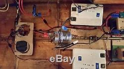 Large 47 Vintage Homemade Remote Controlled Wood Cabin Cruiser Boat