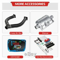 METAL 12V 8KW Diesel Air Heater LCD Thermostat with Remote Control Car Boat Truck