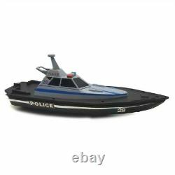 Maisto RC Police Boat Remote Control Toy 34.5cm USB Charging