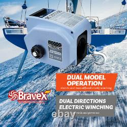 Marine Boat Trailer Winch, 6000lbs 12V Reversible Electric Winch, Remote Control