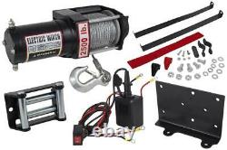 NEW 2500LB ELECTRIC ATV UTV BOAT UTILITY TOWING TRAILER WINCH With REMOTE CONTROL