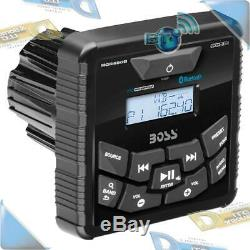 NEW Boss Audio In-Dash Boat/Marine Gauge Radio USB/MP3 Mechless Bluetooth Stereo