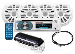 NEW in box, BOSS MCK508WB. 64S Marine Stereo Kit, boat Radio with 4 speakers